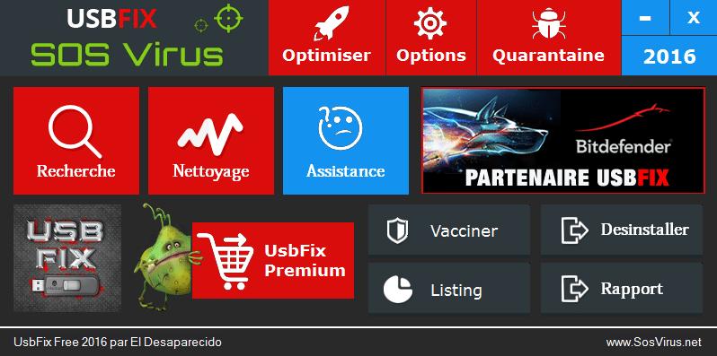 USBFIX 2016 - UsbFix par SosVirus